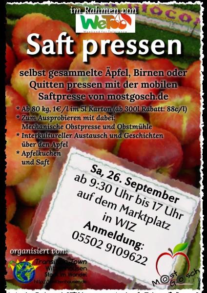 Plakat Apfelpressaktion web